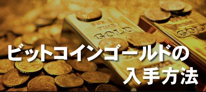 ビットコインゴールド入手方法