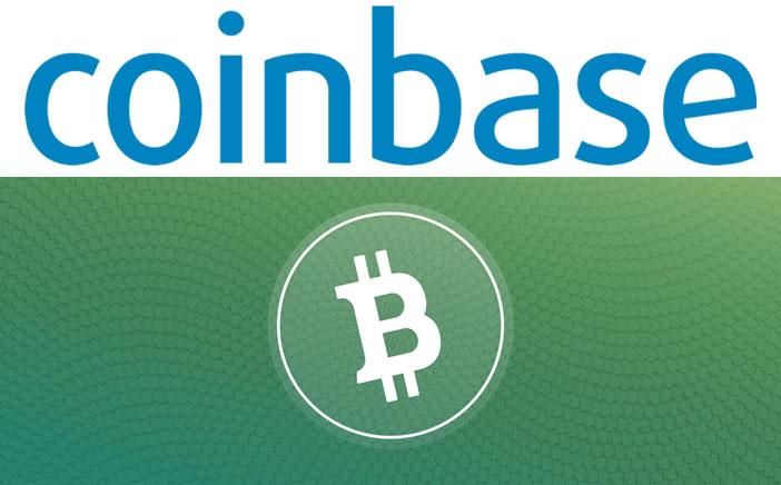 コインベース-ビットコインキャッシュ