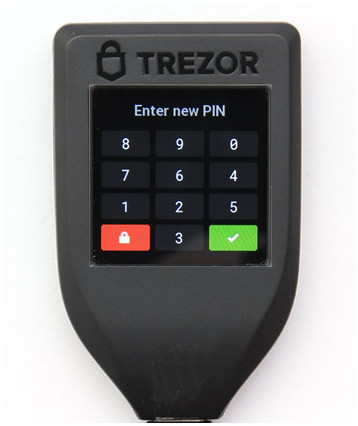 TREZOR Model T-初期設定-PINコード