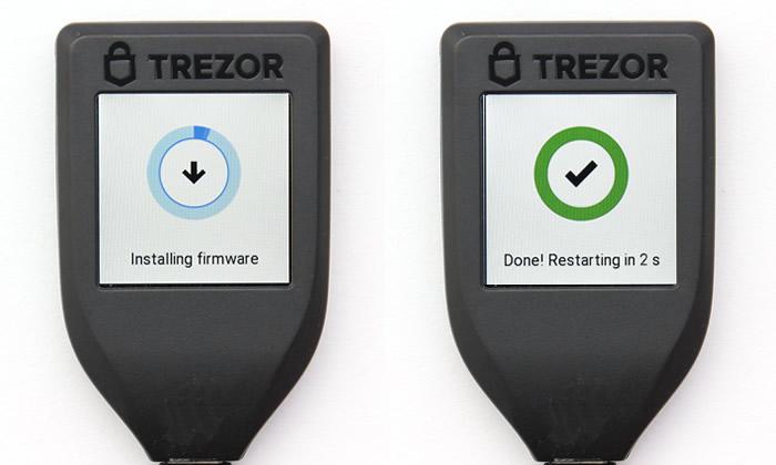 TREZOR Model T-初期設定