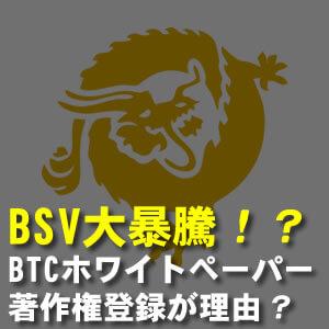 BSV暴騰した理由