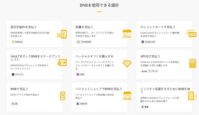 BNBの利用方法について