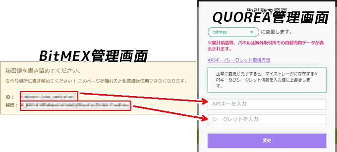 QUOREAクオレア-ビットメックスAPI取得登録方法
