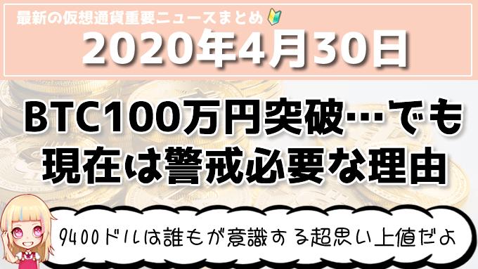 4月30日仮想通貨・暗号資産ニュース