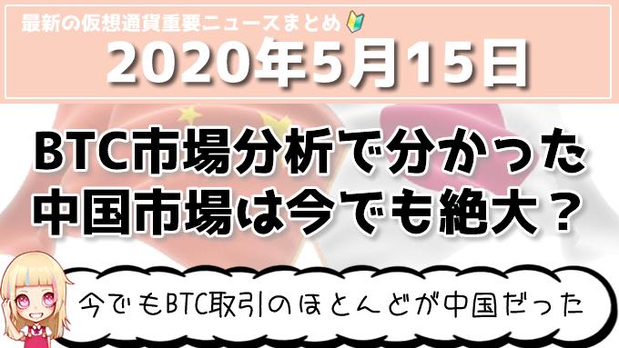5月15日仮想通貨・暗号資産ニュース