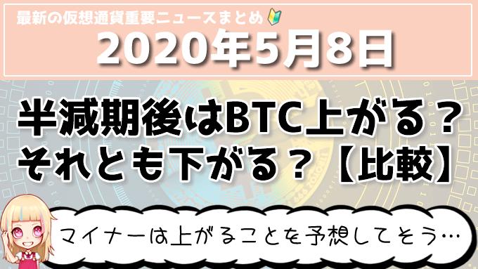 5月8日仮想通貨・暗号資産ニュース