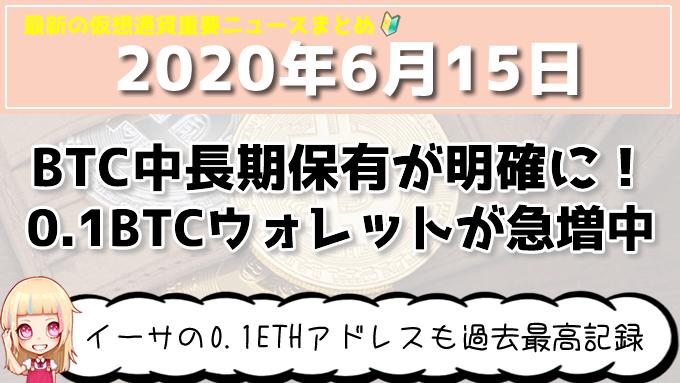 6月15日仮想通貨・暗号資産ニュース