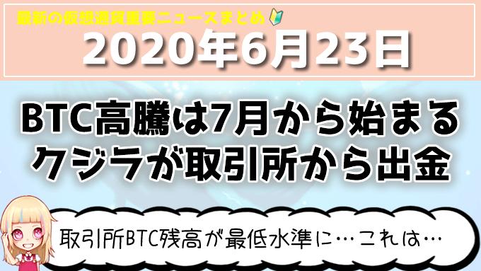6月23日仮想通貨・暗号資産ニュース