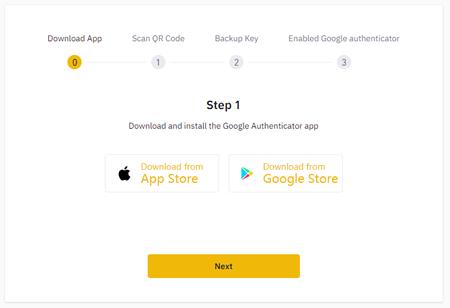 バイナンスGoogl authenticator設定方法