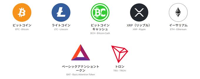 BITPoint(ビットポイント)取扱い通貨